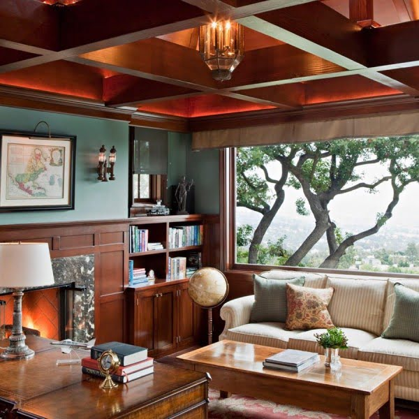 50 Unique Ceiling Design Ideas to Update the Forgotten Wall - You have to see this unique ceiling design idea with wood beam grid. Love it! #HomeDecorIdeas