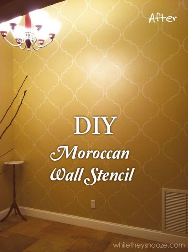 Check out the tutorial on how to make a  Moroccan wall stencil. Looks easy enough!