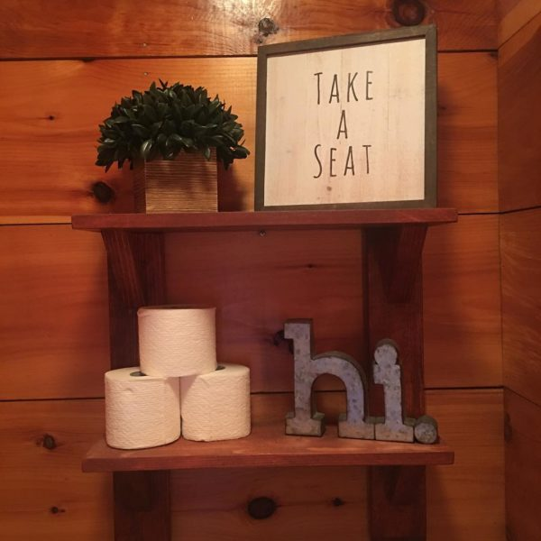 100 Cozy Rustic Farmhouse Bathroom Decor Ideas You Can Easily Copy - You have to see this bathroom decor idea with wood-metal bath signs and intimate atmosphere. Love it!
