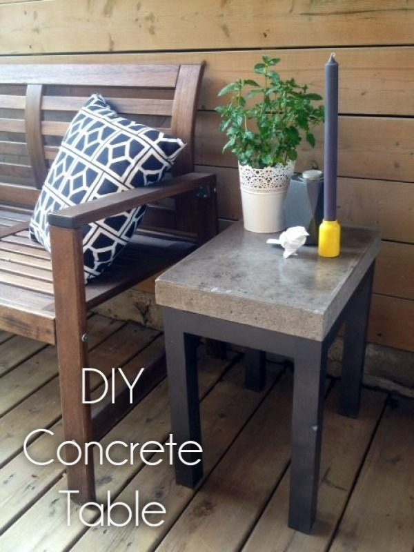 Great idea! Check out the tutorial on how to make a #DIY outdoor concrete side table. #HomeDecorIdeas