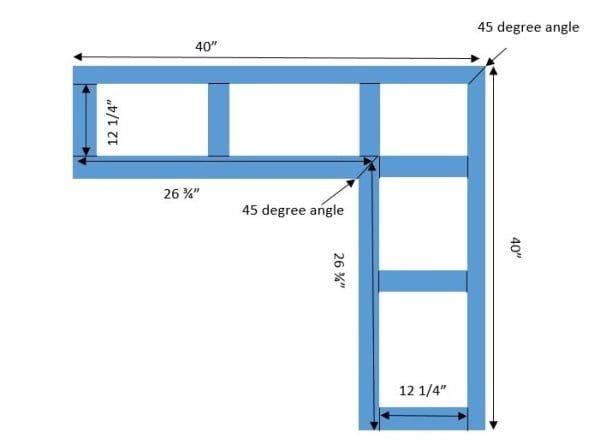 corner bench plan