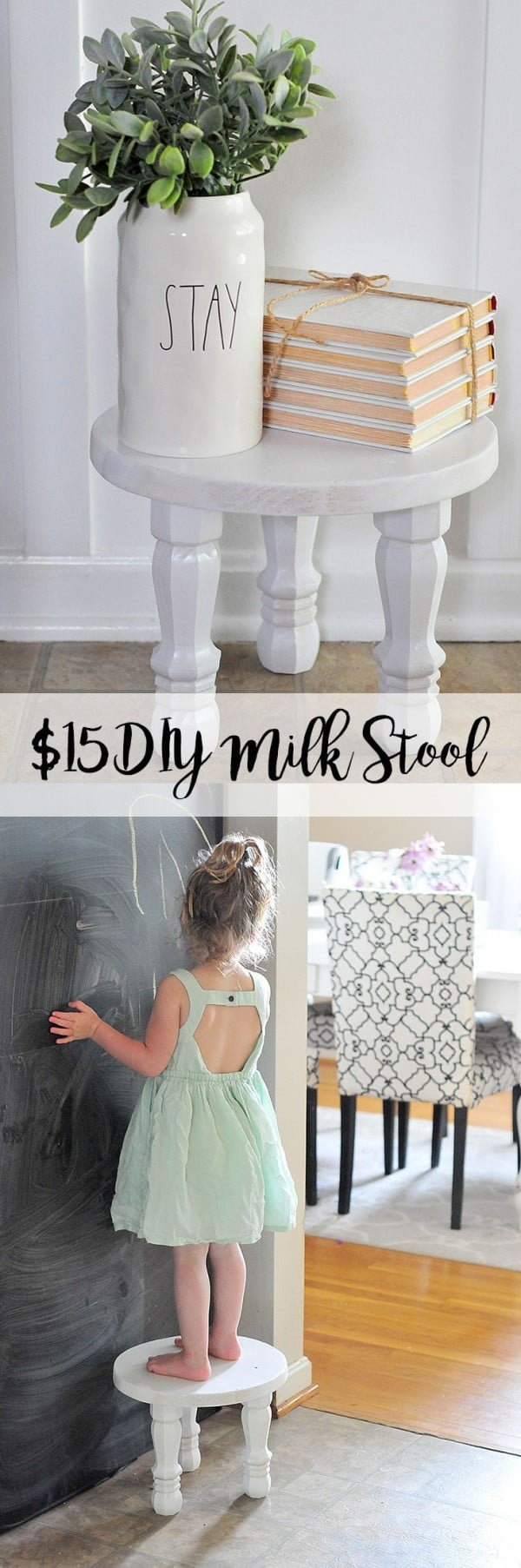 How to make a   milk stool. Looks easy enough!