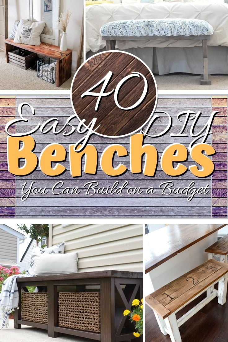 How about building your own DIY bench? Here are 40 easy ideas with plans and tutorials that you can use to build a bench on a budget! #homedecor #DIY #woodworking #crafts