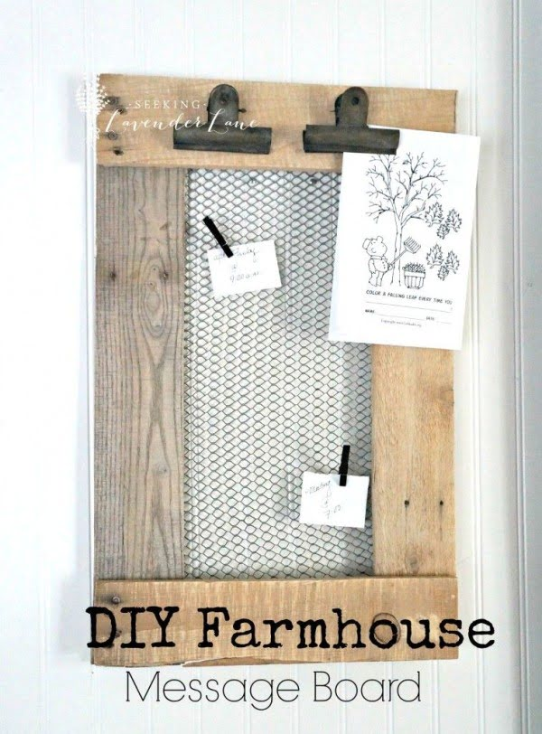 Check out the tutorial on how to make a #DIY #farmhouse message board. Looks easy enough! #HomeDecorIdeas