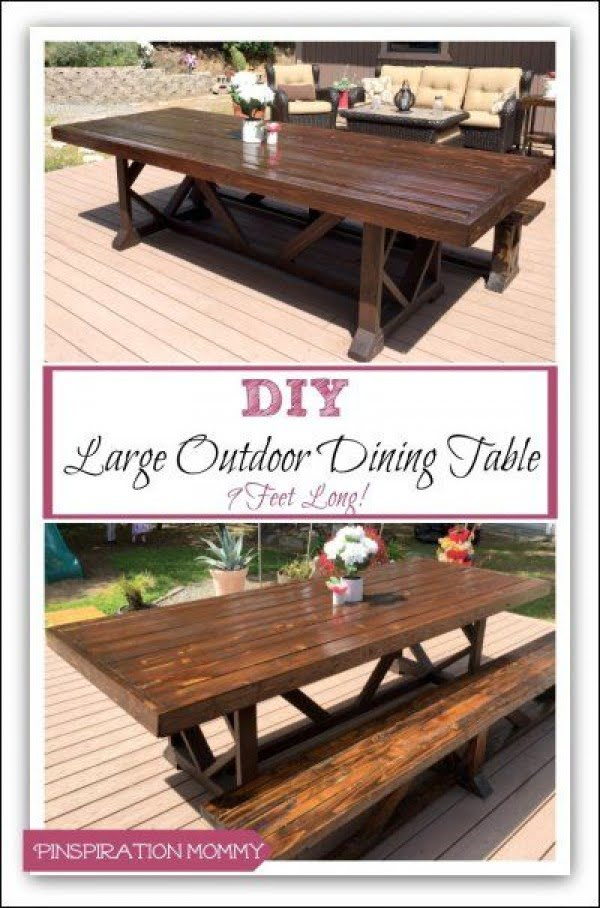 Great idea! Check out the tutorial on how to make a #DIY outdoor dining table. #HomeDecorIdeas
