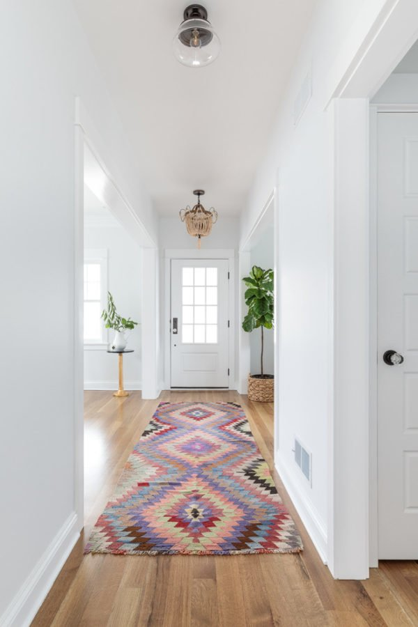decor idea with long hallways and different-era lighting. Love it!