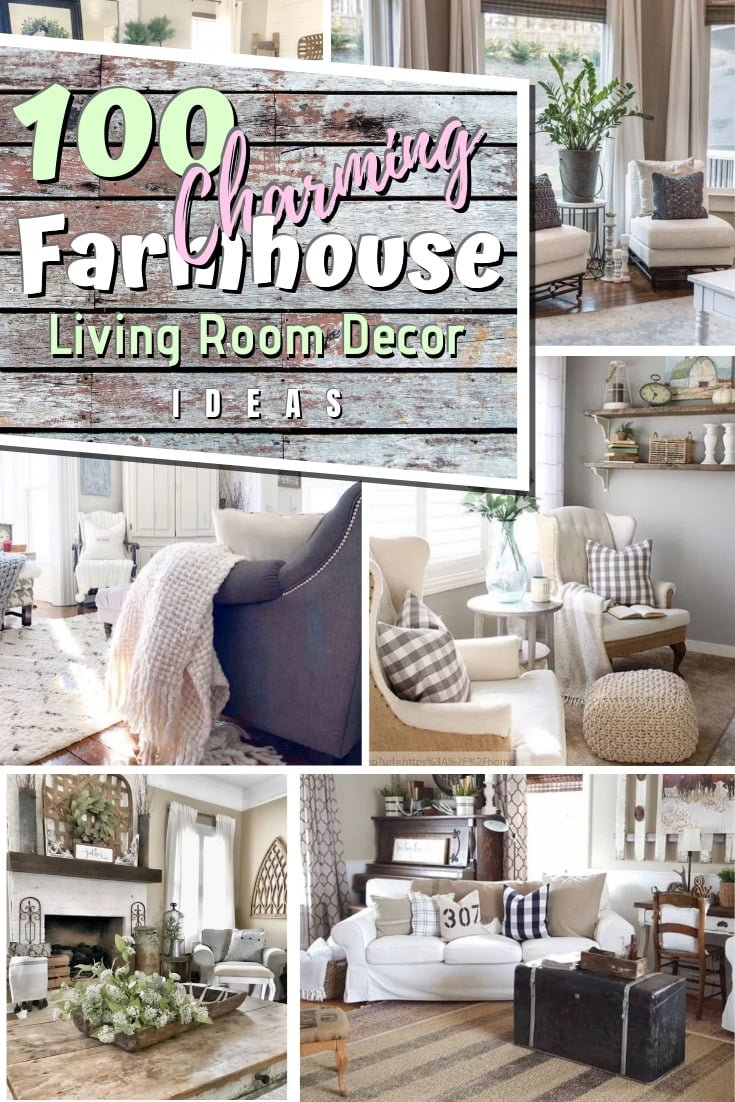 Amazing list of 100 farmhouse living room decor ideas for the best inspiration. Make sure you save this! #homedecor #farmhouse