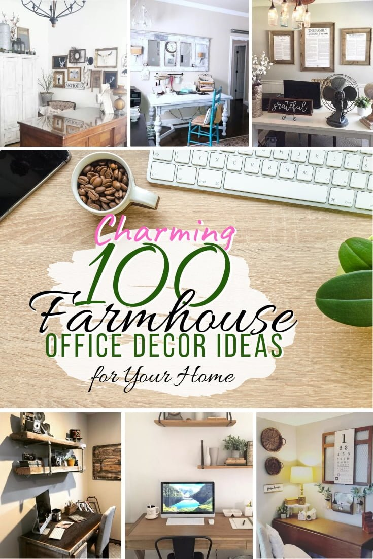 Here's how you make your home office as charming as possible. These are amazing 100 farmhouse home office decor ideas. Great inspiration! #homedecor #farmhouse #homeoffice