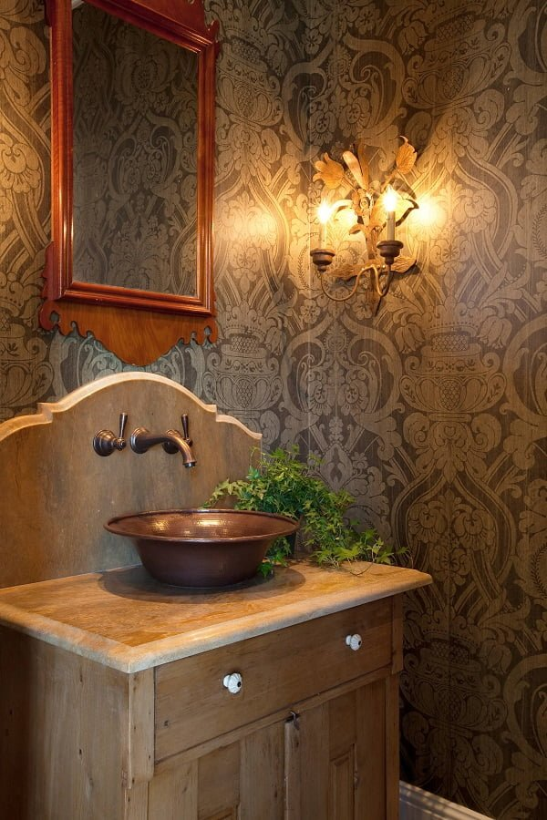 100 Inspiring Farmhouse Sink Ideas for the Kitchen and Bathroom - You have to see this sink decor idea with widespread one-hole faucet and plenty of storage space. Love it!