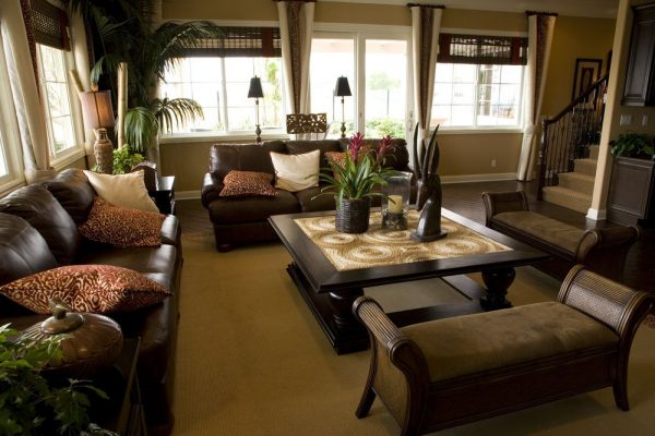 living room decor idea with modern-day furniture and contemporary coffee table. Love it!