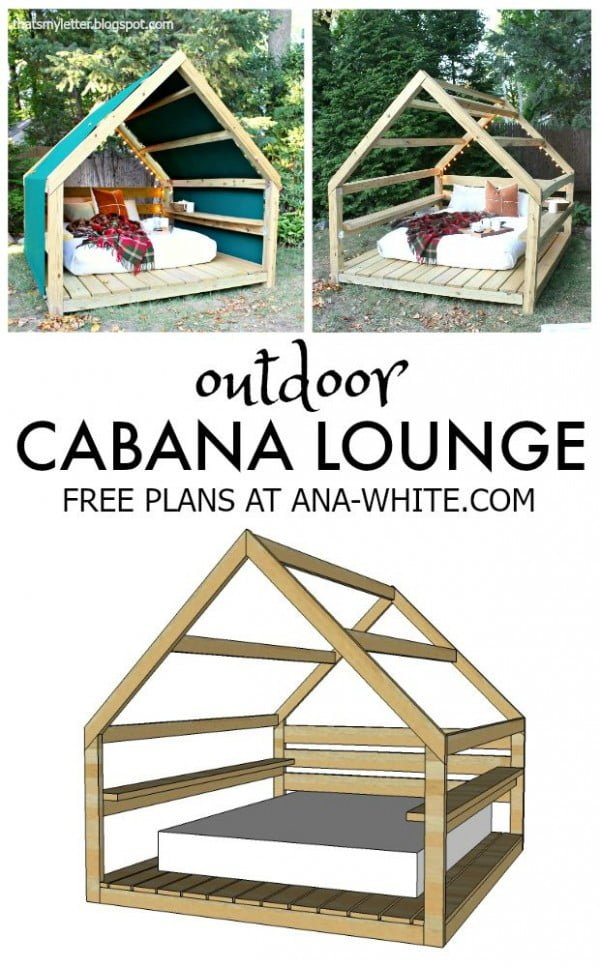 Great idea! Check out the tutorial on how to make a #DIY outdoor cabana lounge. #HomeDecorIdeas