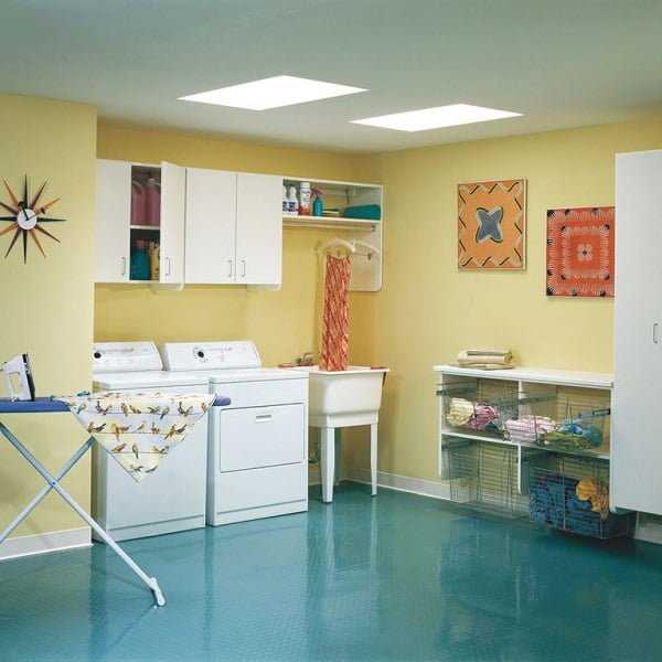100 Fabulous Laundry Room Decor Ideas You Can Copy - You have to see this  decor idea with sky-high ceilings and unique porcelain sink . Love it!