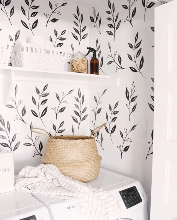 100 Fabulous Laundry Room Decor Ideas You Can Copy - You have to see this #laundryroom decor idea with charming hand-made baskets and a gentle mix of neutrals.Love it! #LaundryRoomDecor #HomeDecorIdeas