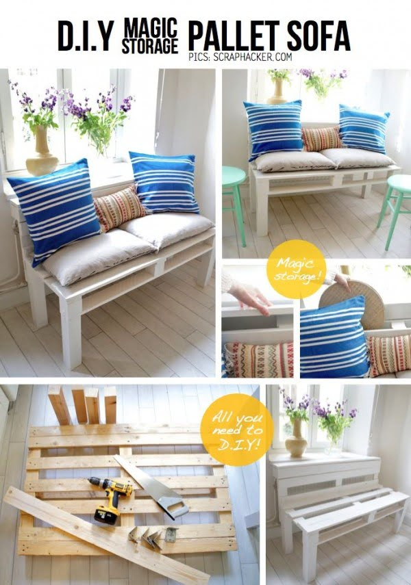 Great idea! Check out the tutorial on how to make a #DIY outdoor pallet sofa. #HomeDecorIdeas