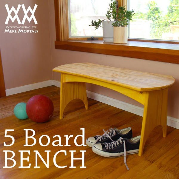 Check out the tutorial on how to make a #DIY 5 board bench. Looks easy enough! #HomeDecorIdeas