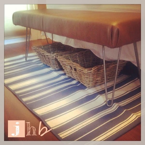 Check out the tutorial on how to make a #DIY hairpin bench. Looks easy enough! #HomeDecorIdeas