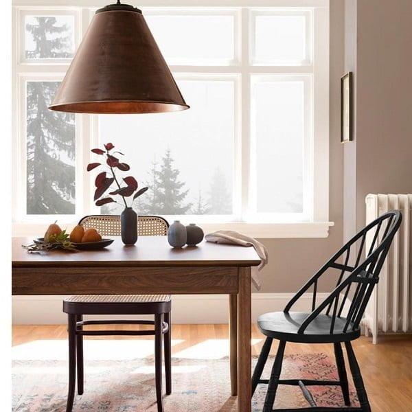 You have to see this #modernfarmhouse decor idea with modern white radiator heater and hardwood floors. Love it! #ModernFarmhouseDecor #HomeDecorIdeas