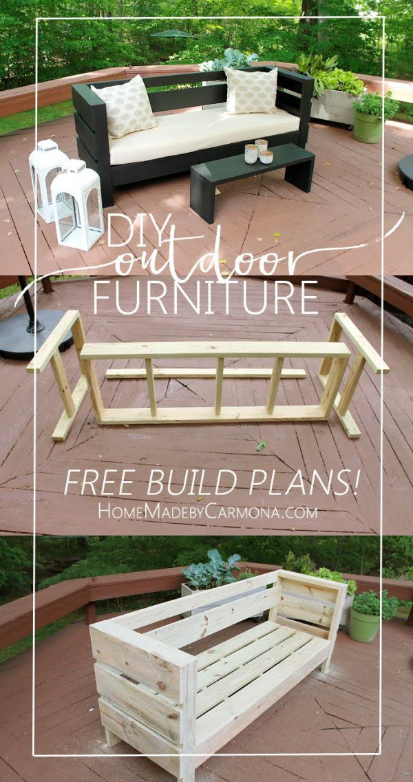 Great idea! Check out the tutorial on how to make a #DIY outdoor modern sofa. #HomeDecorIdeas
