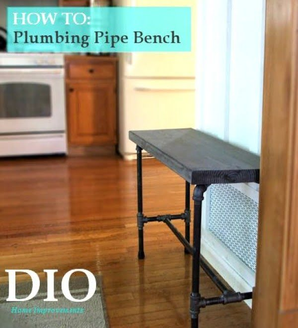 Check out the tutorial on how to make a #DIY pipe bench. Looks easy enough! #HomeDecorIdeas
