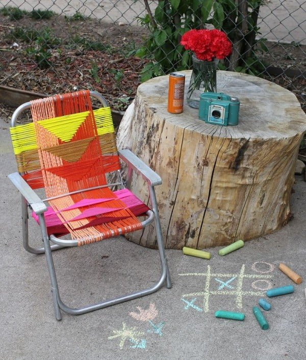 Great idea! Check out the tutorial on how to make a #DIY outdoor aluminum chair. #HomeDecorIdeas