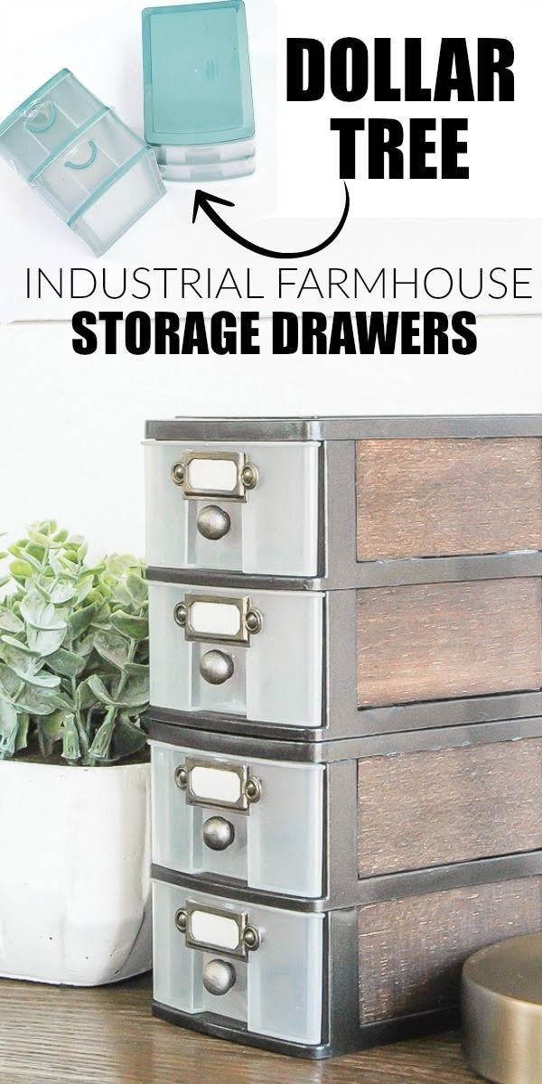 Check out the tutorial on how to make a #DIY #farmhouse storage drawers. Looks easy enough! #HomeDecorIdeas