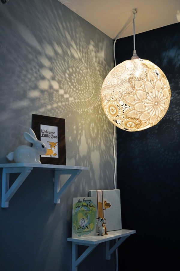 Wonderful Doily DIY Chandelier