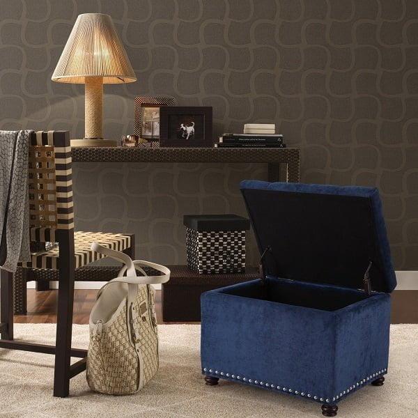 Storage footstool ottoman
