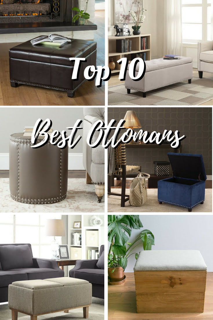Top 10 Best Ottomans in 2018 - the Ultimate Buyer's Guide #homedecor