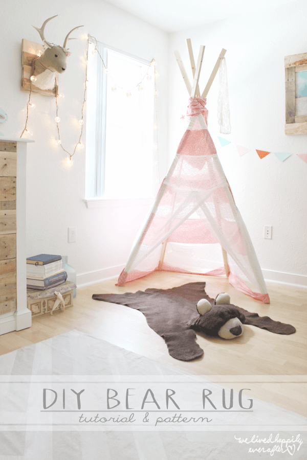 How to make a #DIY DIY Bear Rug