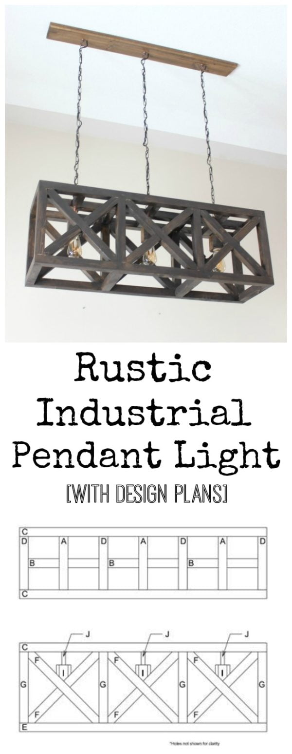 Rustic DIY Industrial Pendant Chandelier #DIY #homedecor