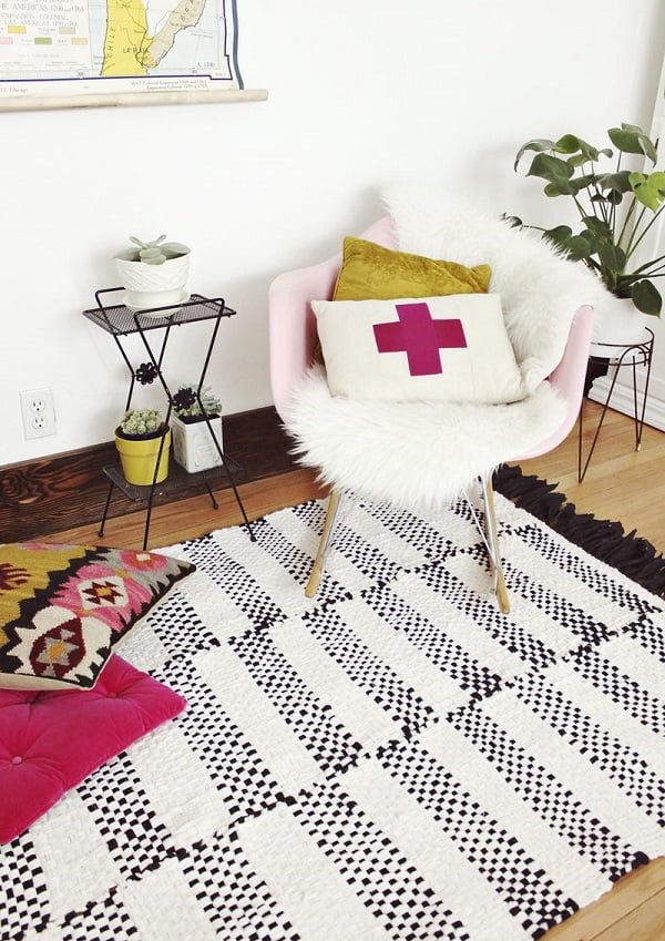 How to make a #DIY DIY Woven Rug