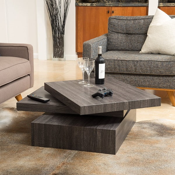 ... Looking For A Modern Contemporary Design That Has A Late 60u0027s Style  Vibe, Youu0027ll Love The Great Deal Furniture Haring Square Rotating Wood Coffee  Table.