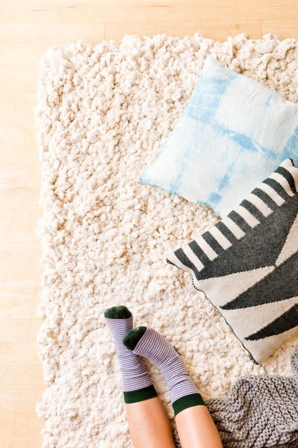 How to make a #DIY Large Cotton Piping DIY Rug
