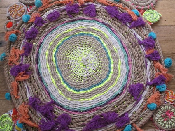 How to make a #DIY Rope Swirl Tapestries