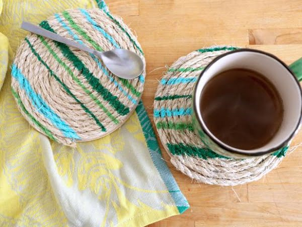 How to make a #DIY Rope Trivets countertops