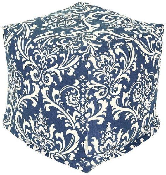 Cube French pouf ottoman