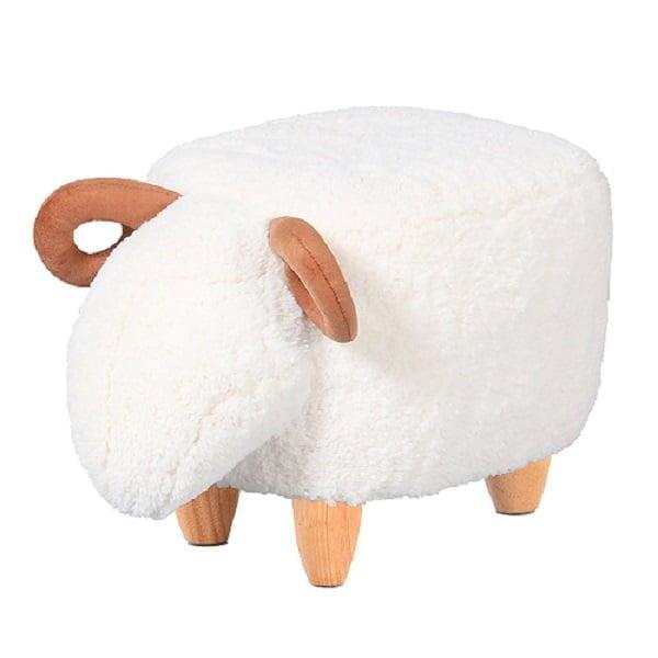 Upholstered ottoman for kids