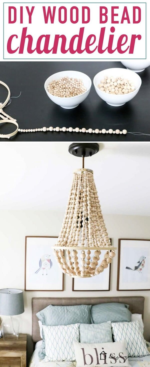 Fabulous DIY Wood Beads Chandelier