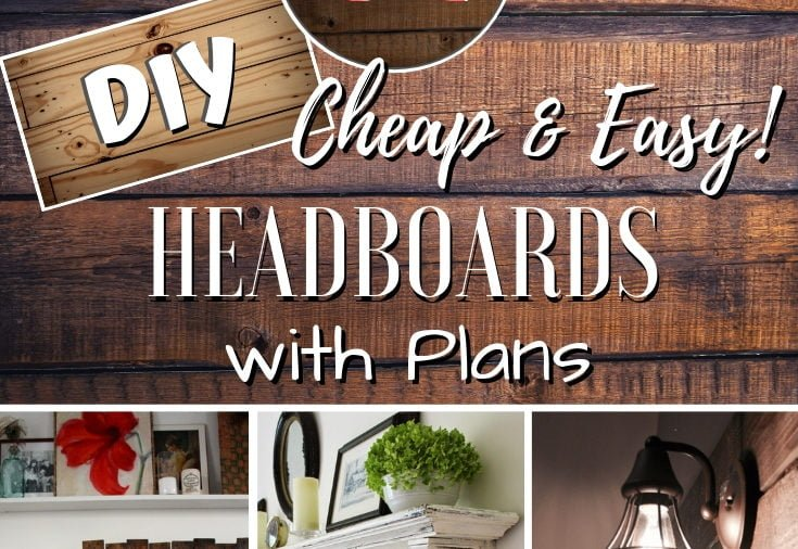 Headboard is the focal point of the bedroom. Here's how you can make your own unique DIY headboard (62 easy tutorials with plans!) #homedecor #crafts #woodworking #DIY