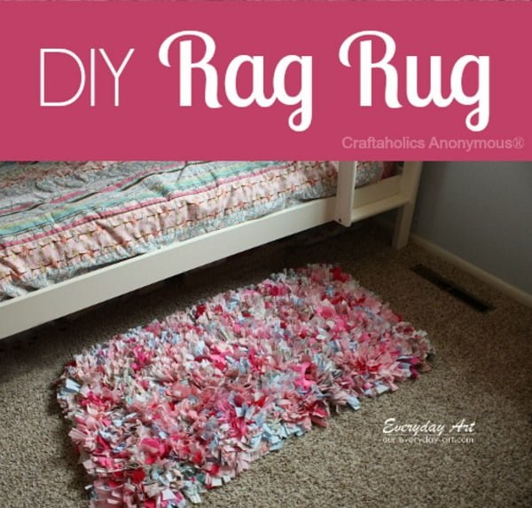 How to make a #DIY Scrap Fabric Rag Rug
