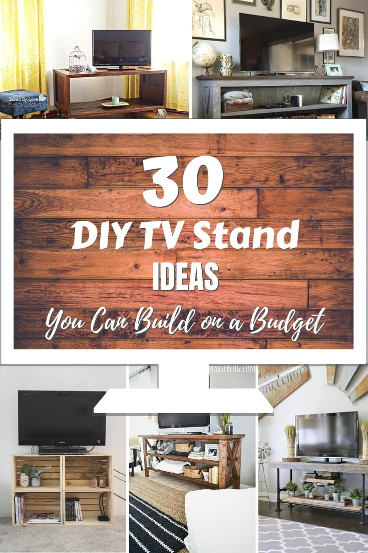 Would you like to build a DIY TV stand? It's a rather easy project, especially if you have one of these 30 tutorials! #DIY #woodworking #furniture