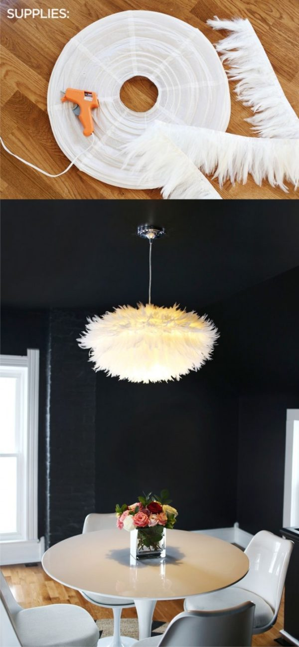 Fantastic Fluffy DIY Chandelier