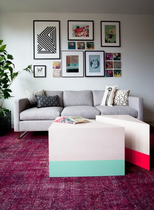 Decorate with a Modern Geometric Coffee Table
