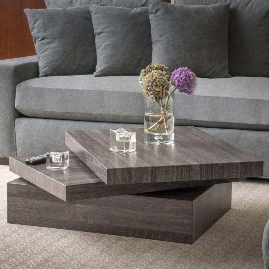 modern rotating coffee table