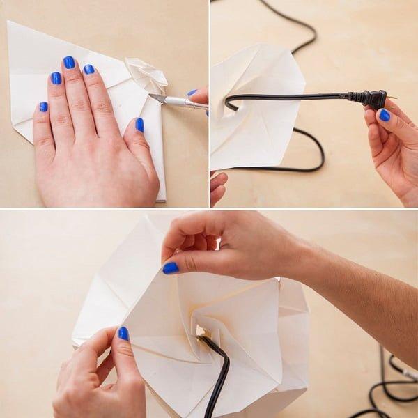 Exceptional DIY Paper Origami Chandelier #DIY #homedecor