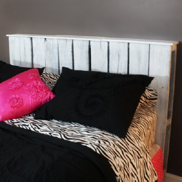 Queen Size Pallet Headboard #DIY #homedecor