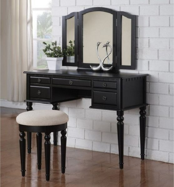 Best Makeup Vanity Desk - Bobkona Saint Croix Vanity Set with Stool