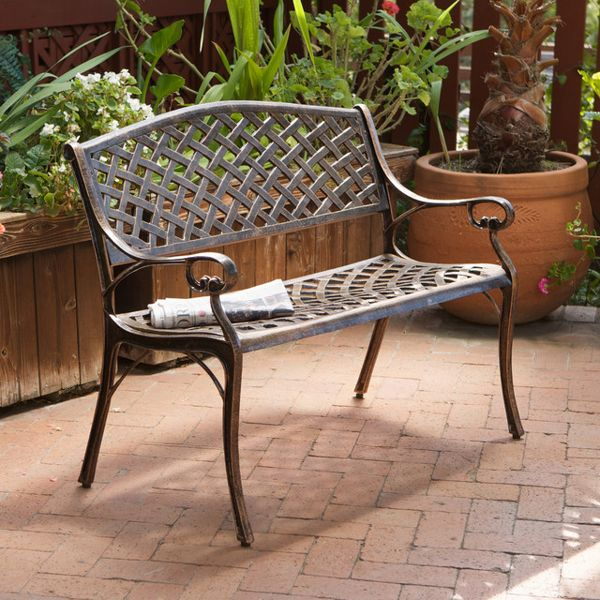 Eastwood Cast Aluminum Outdoor Garden Bench