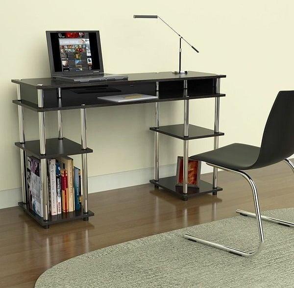 Best Modern Desk - Convenience Concepts Modern No Tools Student Desk