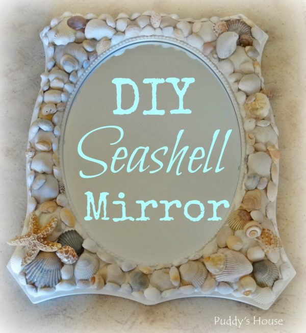 50 Fab DIY Mirror Frames You Can Easily Make Yourself - How to make a DIY seashell mirror #DIY #homedecor